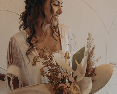 Boho wedding bride San Jose del Cabo bridal bouquet