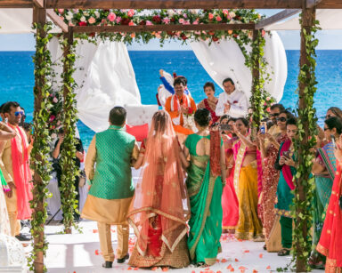 Indian Wedding designer mandap Beach Cabo