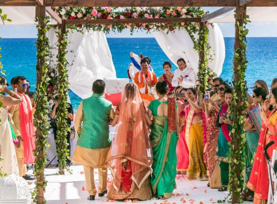 Indian Wedding designer mandap Beach Cabo