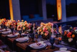 Luxury wedding table design centerpieces Cabo San Lucas private villa