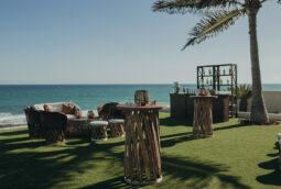 Beach front wedding cocktail party luxury villa  Cabo San Lucas